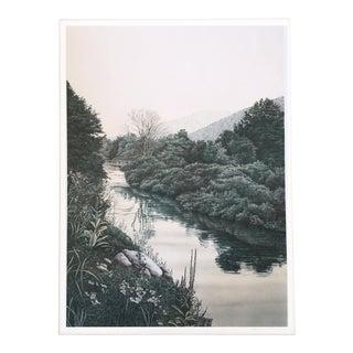 """Helen Rundell """"River"""" Artist Proof Lithograph"""