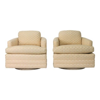 Baker Furniture Swivel Barrel Chairs