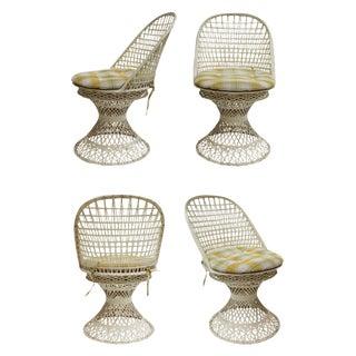 Spun Fiberglass Dining Chairs, S/4