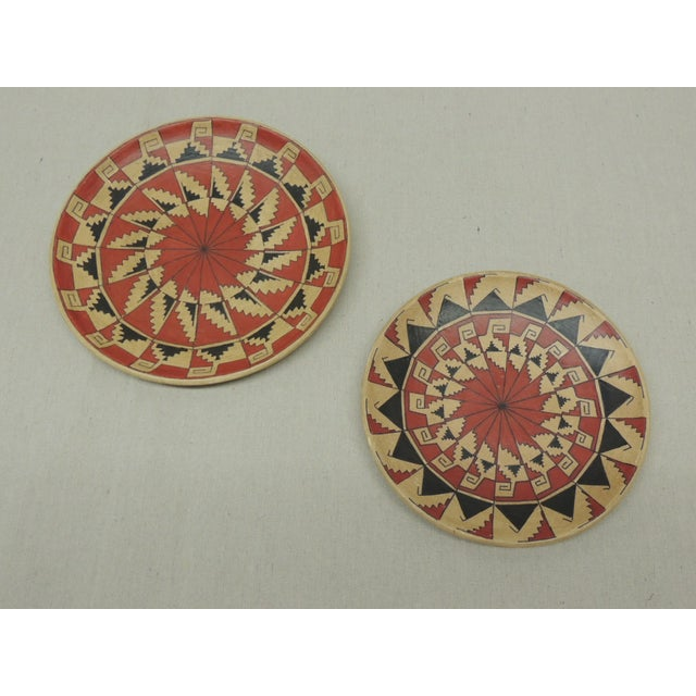 Vintage Terracotta Painted Dishes - Pair - Image 2 of 4