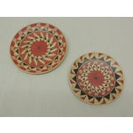 Image of Vintage Terracotta Painted Dishes - Pair