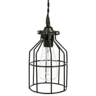 Black Industrial Metal Cage Light