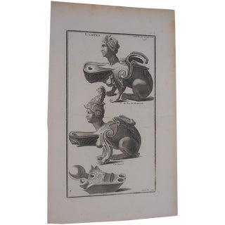 Antique Engraving Oil Lamps