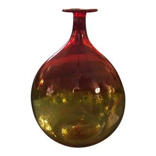 Blenko Hand Blown Art Glass Vase
