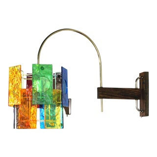 Mid-Century Modern Colorful Wall Sconce Light Fixture