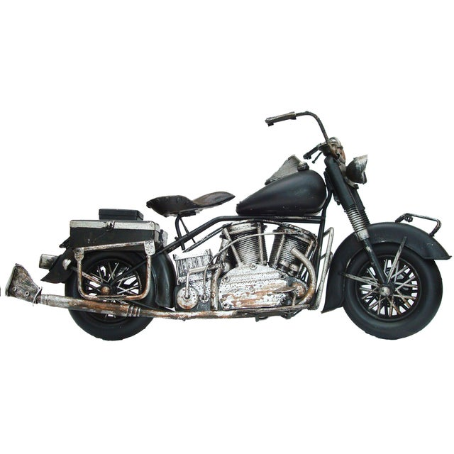 Image of Metal Motorcycle With Moving Parts