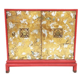 Chinoiserie Red & Gold Chest