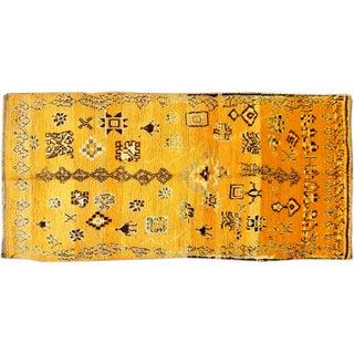 Apadana - Vintage Yellow Moroccan Rug - 4' x 9'