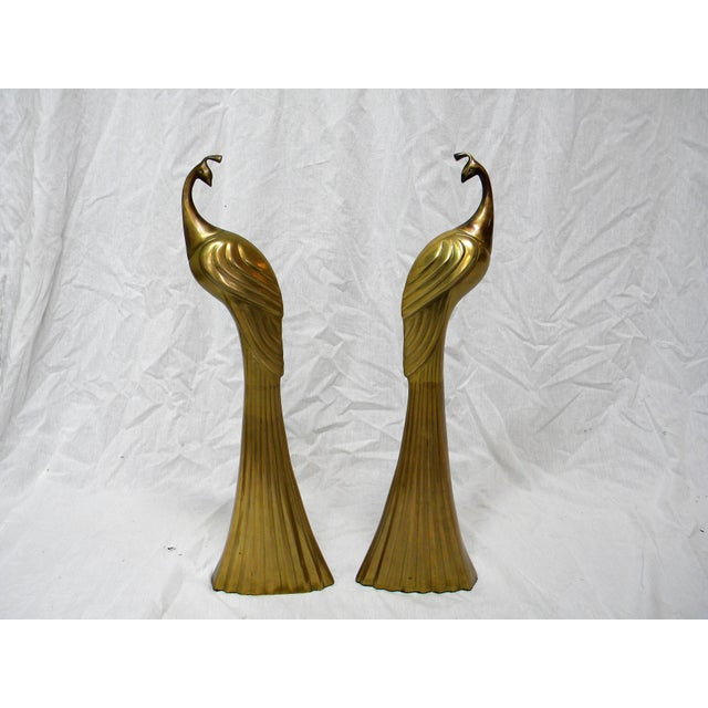 Circa 1980s Brass Peacock Figures - A Pair - Image 6 of 6