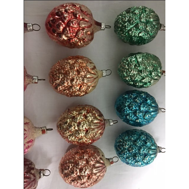 Vintage Christmas Pine Cone Ornaments - Set of 12 - Image 6 of 7