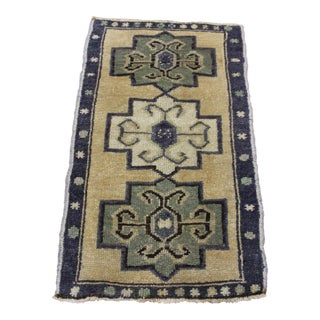 "Turkish Anatolian Wool Rug - 1'9"" X 3'"