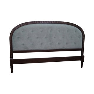 French Louis XVI Tufted Upholstered King Headboard