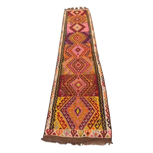 Vintage Kilim Runner - 2′5″ × 12′4″ - Image 3 of 5