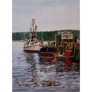 """Josh Moulton """"Port Clyde, Maine"""" Giclee Print After a Painting"""