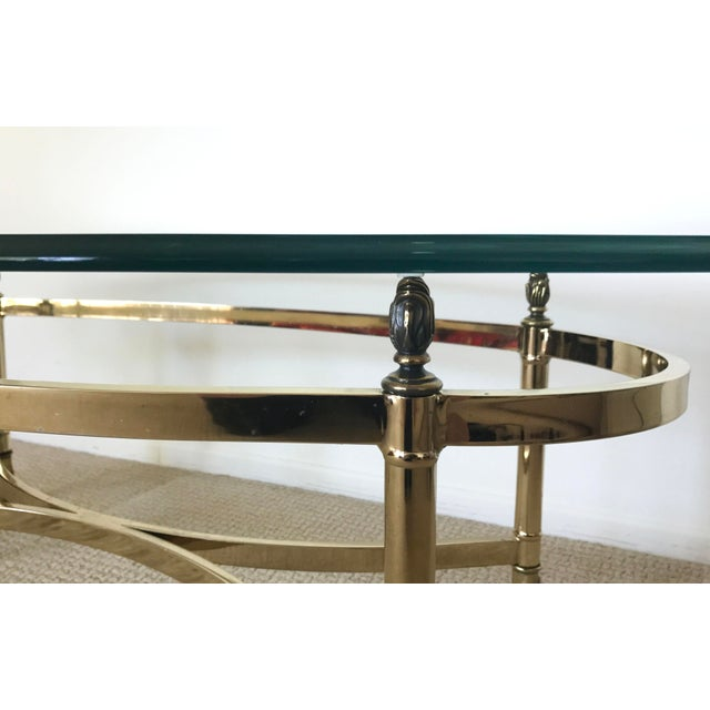 Oval Coffee Table Antique: Vintage Brass & Glass Oval Coffee Table