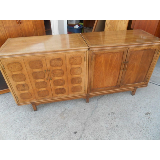 MCM Thomasville Floating Dual Credenza - Image 2 of 6