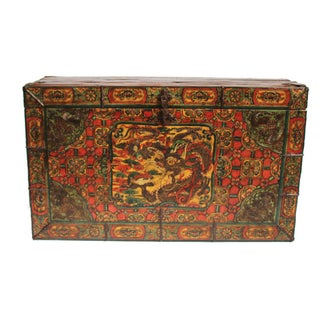 Antique Tibetan Trunk