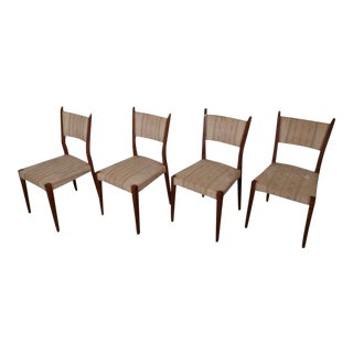 Paul McCobb Angled Back Chairs - Set of 4