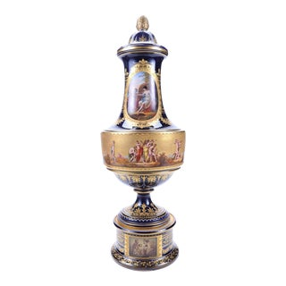 "19th C. Royal Vienna 22"" Museum Piece Urn"