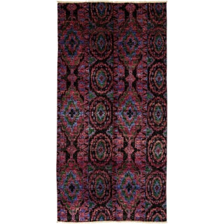 "Ikat, Hand Knotted Area Rug - 6' 0"" x 11' 9"""