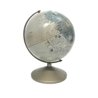 1960s Metal Moon Globe