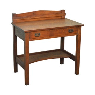 L & JG Stickley Antique Arts & Crafts Mission Oak Writing Desk