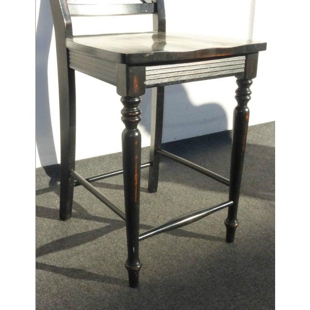 Black Modern Wood Bar Stools - Set of 4 - Image 11 of 11