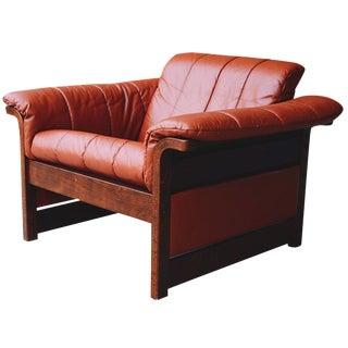 Scandinavian Rosewood & Leather Club Chair