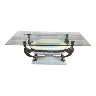 Maitland-Smith Metal & Stone Cocktail Table