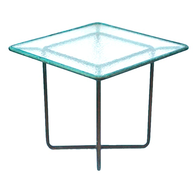 Walter Lamb Patinated Bronze Patio Table - Image 1 of 5