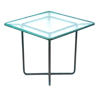Walter Lamb Patinated Bronze Patio Table