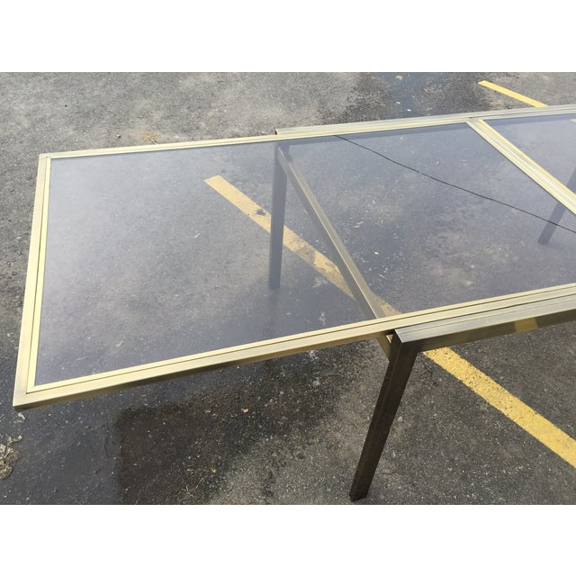 Image of Mastercraft Brass Extending Dining Table