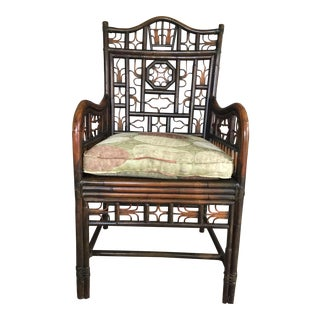 Chinoiserie Bamboo Rattan Chair