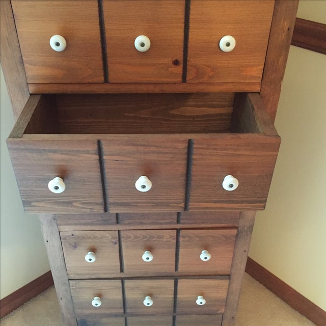 Image of Antique Tall Drawer Chest