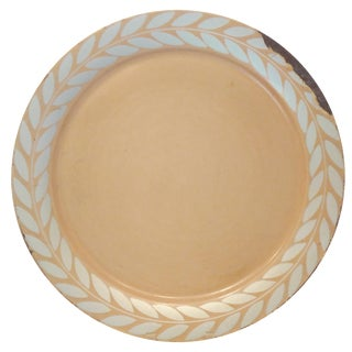 Art Deco Round Metal Tray