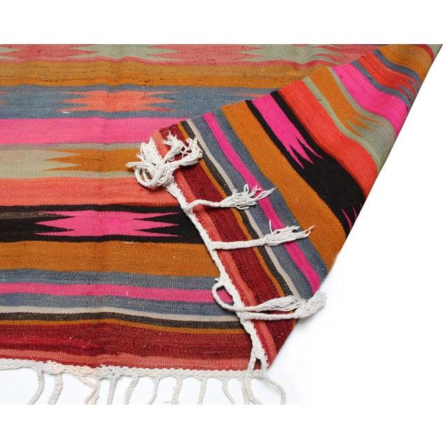 "Vintage Anatolian Kilim Rug - 5'9"" x 8'9"" - Image 2 of 3"