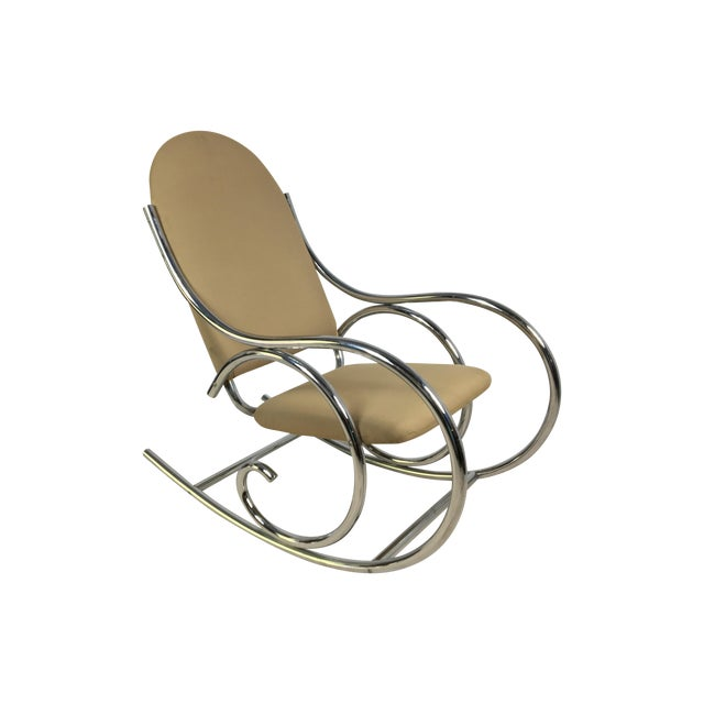 Modern Chrome Rocker In The Style of Michael Thonet - Image 1 of 4