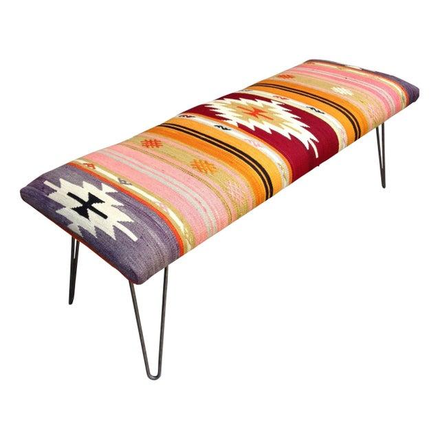 Turkish Kilim Bench Chairish