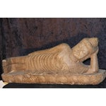 Image of Antique Reclining Buddha Statue
