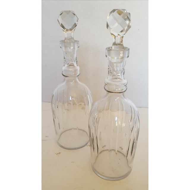 Image of Classic Cut Crystal Decanters - Pair