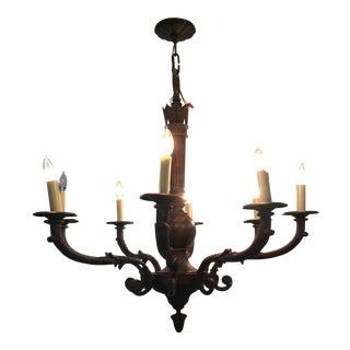 Antique Eight Light Chandelier