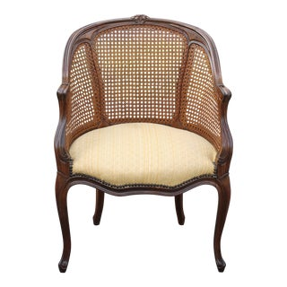 Vintage French Louis XC Style Cane Accent Chair