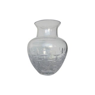 Authentic Tiffany Crystal Glass Vase
