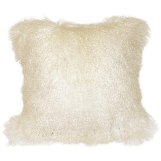 Natural White Mongolian Sheepskin Pillow