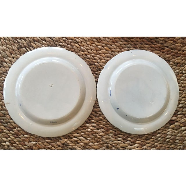 Antique Spode Italian Blue & White Transferware Plates - A Pair - Image 5 of 8