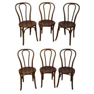 Jacob & Josef Kohn Bent Wood Thonet Dining Chairs - Set of 6