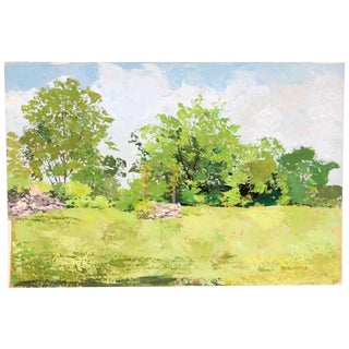 Field Well Gouache Painting