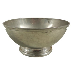 Round Pewter Serving Bowl