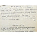 """Image of Vintage """"Pour Roby"""" Picasso Etching"""