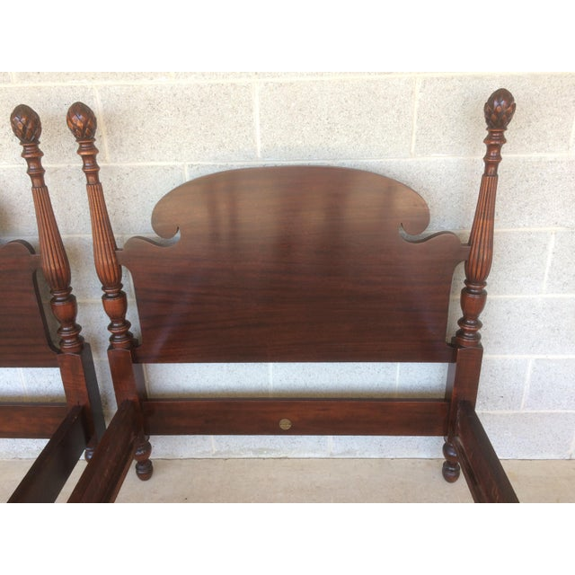 Antique Leather Sofa Northern Ireland: Huntley Furniture Mahogany Single Pineapple Poster Beds